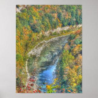 Poster/impresión de la curva del río de Genesee