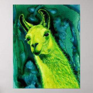 """Poster/impresión de la llama - """"llama de Llemon-Ll Póster"""