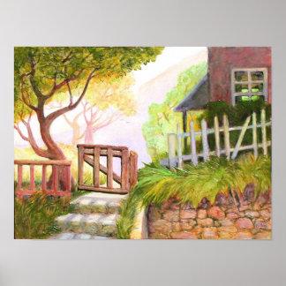 Poster-impresión de la puerta de jardín