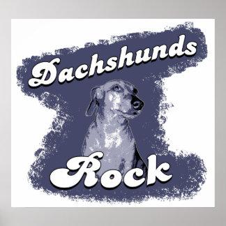 Poster/impresión de la roca de los Dachshunds