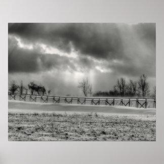 Poster/impresión de la tormenta de la nieve del cl