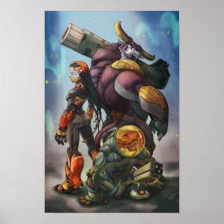 Poster/impresión de la vaca loca póster