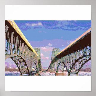 Poster/impresión de los puentes