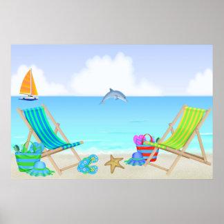 Poster/impresión de relajación de la playa