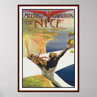 Poster/impresión del aeroplano: d'Aviation de la r