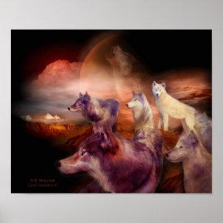 Poster/impresión del arte de la montaña del lobo póster