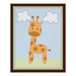 Poster/impresión del arte de la pared de la jirafa