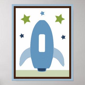 Poster impresión del arte de la pared de Rocket de