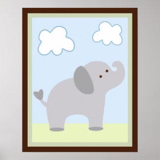 Poster/impresión del arte de la pared del elefante