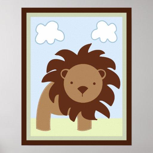 Poster/impresión del arte de la pared del león de  póster