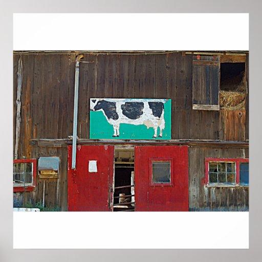 Poster/impresión del arte de la vaca