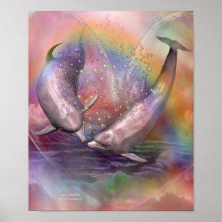 Poster/impresión del arte de las burbujas del amor