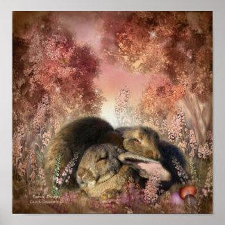 Poster impresión del arte de los sueños del coneji