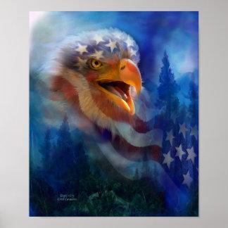 Poster impresión del arte del grito de Eagle