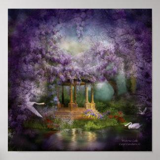 Poster/impresión del arte del lago wisteria