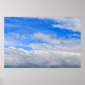 Poster impresión del cielo nublado