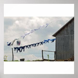 Poster/impresión del día del lavadero