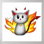 Poster/impresión del gatito del diablo