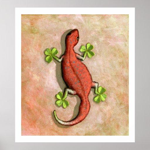 Poster/impresión del Gecko de St Patrick