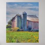 Poster/impresión del granero de Amish