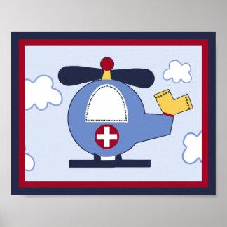 Poster/impresión del helicóptero del vehículo de r