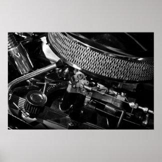 Poster/impresión del motor de coche