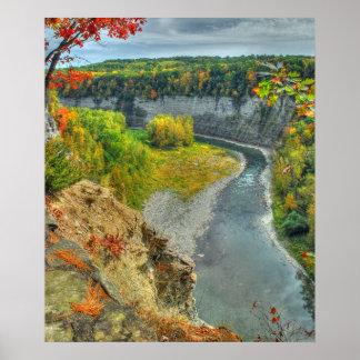 Poster/impresión del otoño del río de Genesee
