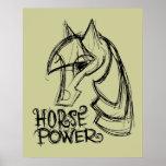 Poster/impresión del poder de caballo