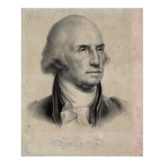 Poster/impresión del retrato de George Washington Póster