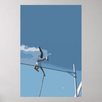 Poster/impresión del salto con pértiga póster