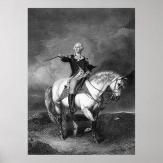 Poster impresión del saludo de George Washington