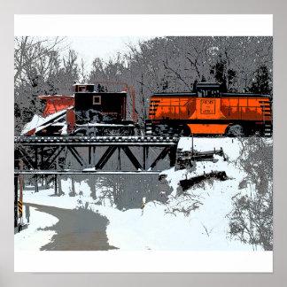 Poster/impresión del tren de la nieve