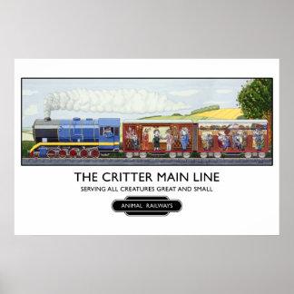 Poster/impresión del tren del vintage