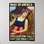 Poster/impresión: Despierte América