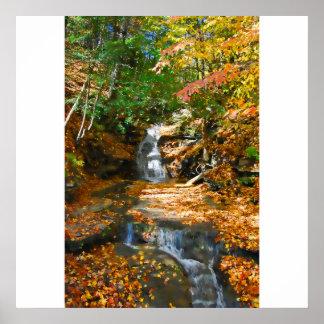 Poster/impresión dobles de las cascadas