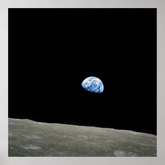 Poster/impresión: Earthrise - imagen del espacio d
