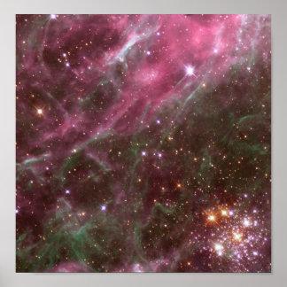 Poster/impresión: Estrellas en nebulosa