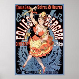Poster/impresión: Folies Bergere - Cheret