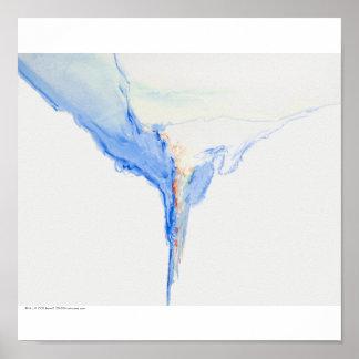 """Poster/impresión: """"Formas azules """""""