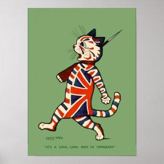 Poster impresión Gato patriótico