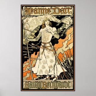Poster/impresión: Jeanne D'Arc, Sarah Bernhardt Póster