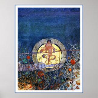 Poster/impresión; La luna de cosecha Póster