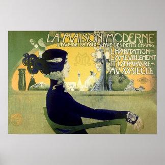 Poster/impresión: La Maison Moderne (la casa moder Póster