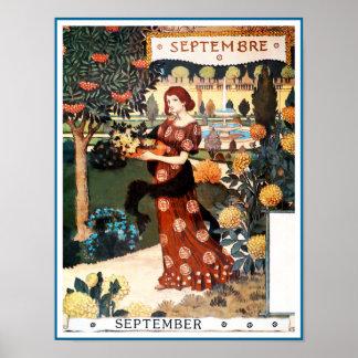 Poster/impresión: Mes de septiembre - Septembre Póster
