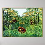 Poster/impresión: Monos en la arboleda anaranjada