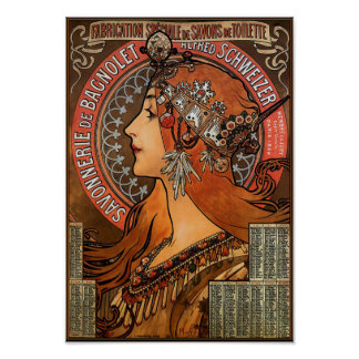 "Poster/impresión: Mucha - ""Savonnerie de Bagnolet  Póster"