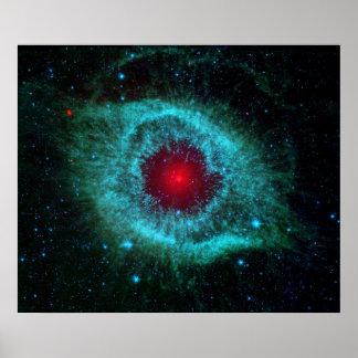 Poster impresión Ojo en el cielo - nebulosa de la