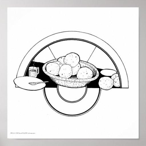 """Poster/impresión: """"Platos/pomelo """""""