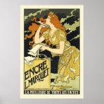 Poster/impresión:  Poster del vintage de Nouveau d