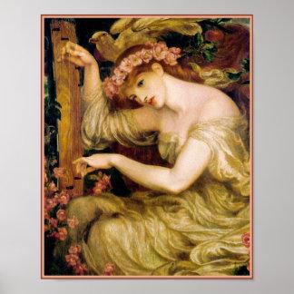 Poster impresión Rossetti - encanto del mar